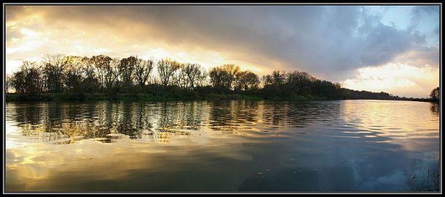 Zdj�cia: rzeka Odra ko�o Krapkowic.daj� jeszcze panoram� mo�e si� wam spodoba. , �lask Opolski, panorama, POLSKA
