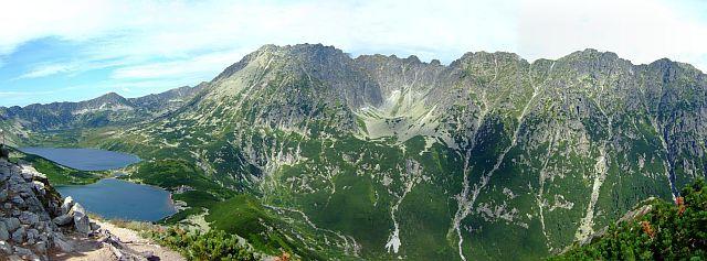 Zdjęcia: tatry, Tatry, panorama na Doline Pięciu Stawów i Dolinę Roztoki, POLSKA