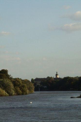 Zdjęcia: widok na zamek w Krapkowicach., Ślask Opolski, rzeka Odra, POLSKA