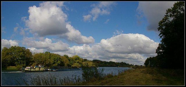 Zdjęcia: panorma rzeki Odra,niedaleko śluza w Rogowie Op., śląsk opolski, rzeka Odra, POLSKA
