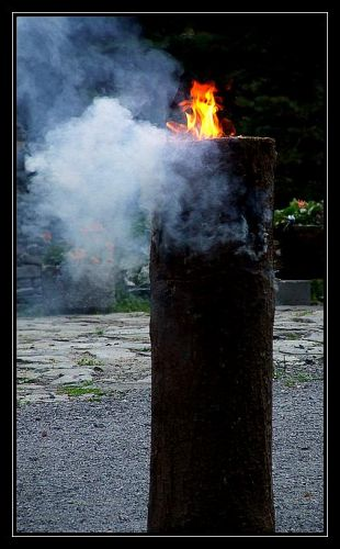 Zdjęcia: Pokrzywna, Góry Opawskie, ogień pokoju, POLSKA