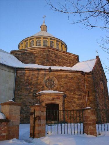 Zdjęcia: Zagnańsk, Góry Świętokrzyskie, Kościół Św. Rozalii i Marcina, POLSKA