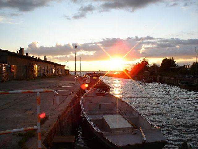 Zdjęcia: Lubin, Wyspa Wolin, Zachód słońca nad zatoką w Lubinie, POLSKA