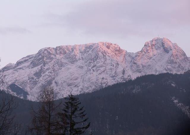 Zdjęcia: Zakopane, Tatry, Giewont o zachodzie słońca, POLSKA
