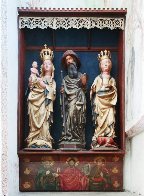 Zdjęcia: Bazylika Mariacka, Gdańsk, Ołtarz z kaplicy św. Jakuba, POLSKA
