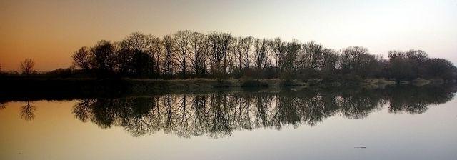Zdjęcia: rzeka Odra, woj.Opolskie, cisza jak ta.., POLSKA