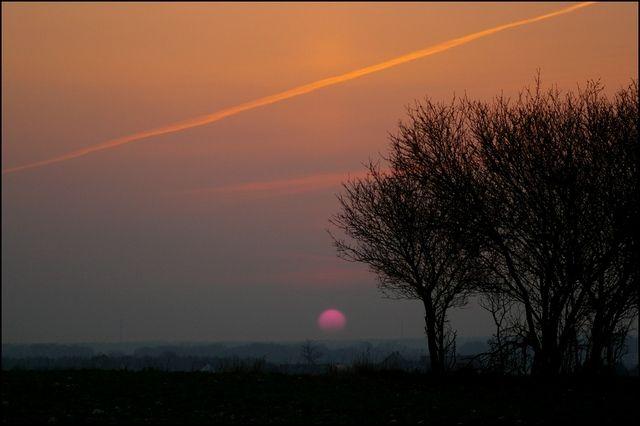 Zdjęcia: pola okolice Krapkowic, woj.Opolskie, zapadła już noc, POLSKA