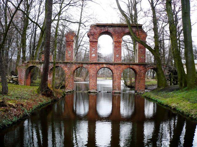 Zdjęcia: Arkadia-park romantyczny k.Łowicza, Mazowsze, Akwedukt, POLSKA
