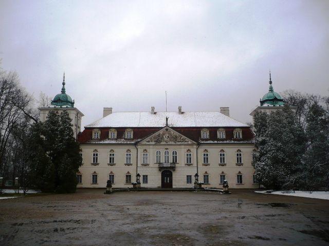 Zdj�cia: Nieborow, Mazowsze, w sniegowej szacie..., POLSKA