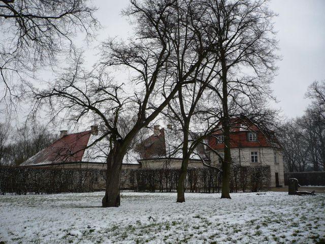 Zdj�cia: Nieborow, Mazowsze, w sniegowej szacie, POLSKA