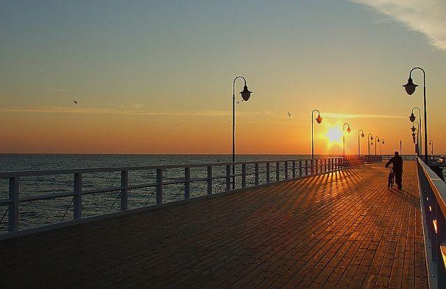 Zdjęcia: Gdynia Orłowo, Pomorze, Molo o świcie, POLSKA