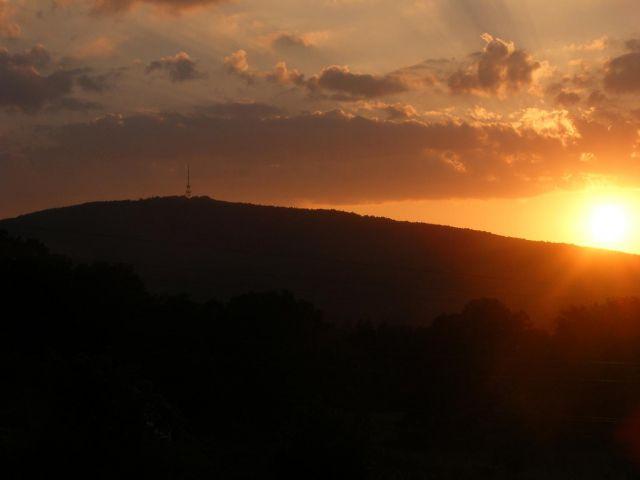 Zdjęcia: Przemiłów, dolnośląskie, zachód słońca nad Ślężą, POLSKA