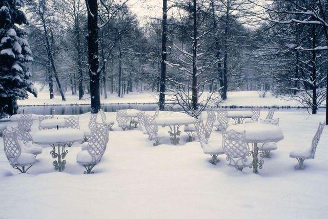 Zdjęcia: Pszczyna, park pałacowy, woj. śląskie, Uśpiona kawiarnia, POLSKA
