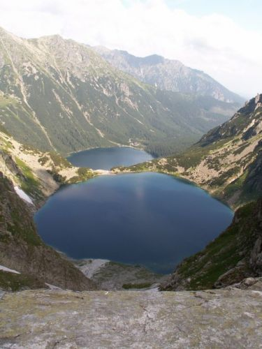 Zdj�cia: Tatry, Morskie Oko i Czarny Staw z Buli pod Rysami, POLSKA