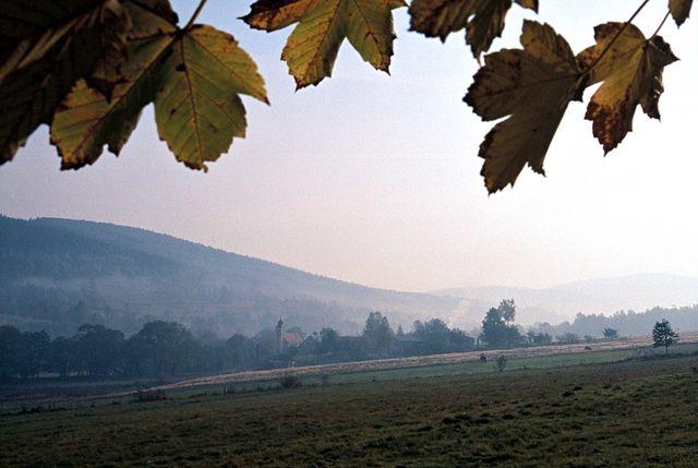 Zdjęcia: Góry Bialskie, Sudety, Opadają mgły..., POLSKA