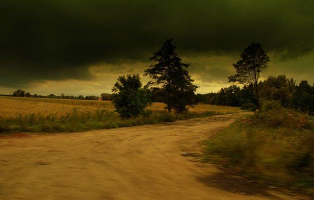 Zdjęcia: nad Wisłą, okolice Warszawy, przed burzą, POLSKA
