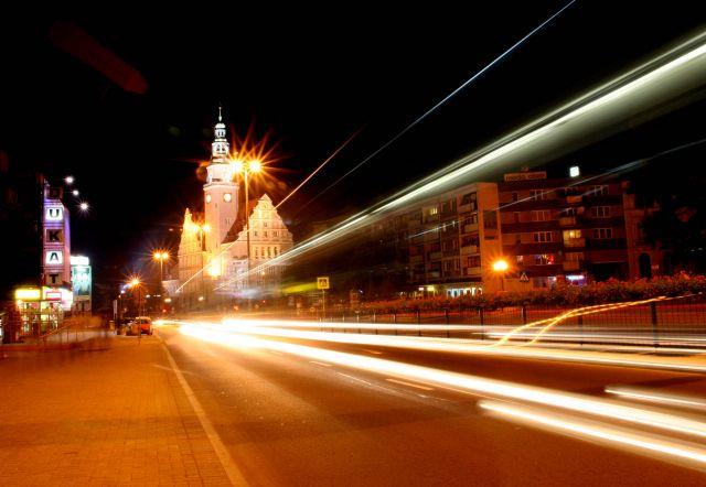 Zdjęcia: olsztyn, miasto, nocny autobus, POLSKA