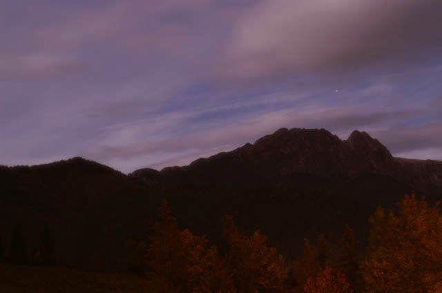 Zdjęcia: Dolina Kościeliska, Tatry, Giewont o 2.30 w nocy, POLSKA