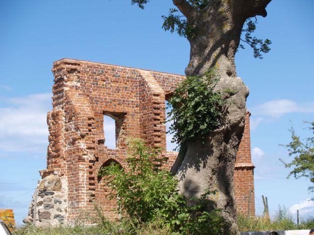 Zdj�cia: Trz�sacz., zachodniopomorskie, Ruiny na skarpie., POLSKA