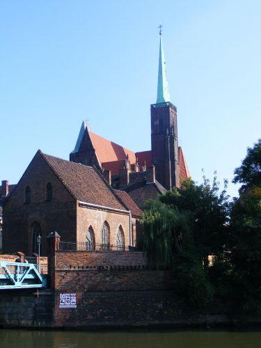 Zdjęcia: Ostrów Tumski, Wrocław, kościół św. Krzyża, POLSKA