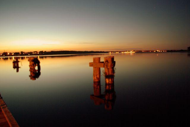 Zdjęcia: Wilkasy/Niegocin, Mazury, Port po zachodzie, POLSKA