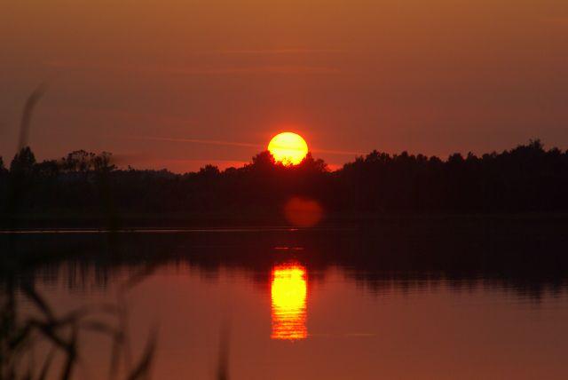 Zdjęcia: Okolice Wilkas, Mazury, Słońce, POLSKA