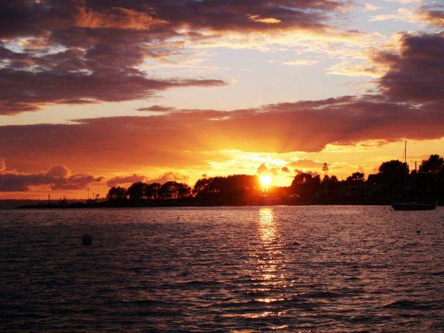 Zdjęcia: Jurata, Zatoka Pucka, Zachód słońca nad zatoką Pucką., POLSKA