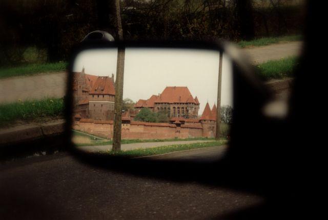 Zdjęcia: Malbork, lusterko, POLSKA