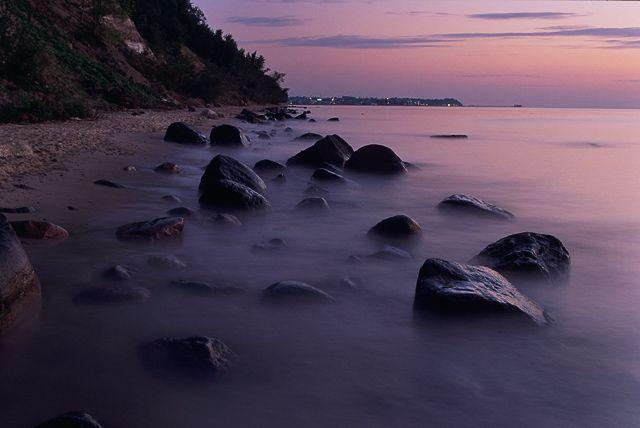 Zdjęcia: Okolice Orłowa, Wybrzeże, Kamienie świtaniem, POLSKA