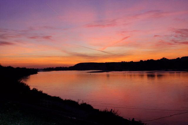 Zdjęcia: Kazimierz Dolny, Lubelszczyzna, Zachód słońca nad Wisłą, POLSKA