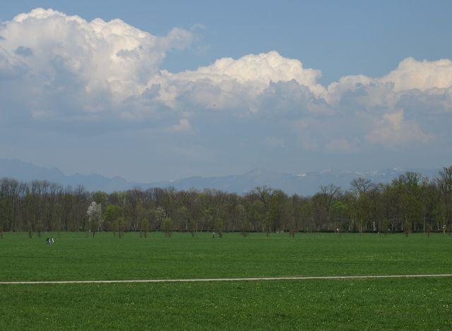 Zdjęcia: park jak widać..., Mediolan, rower jest i ścieżka rowerowa też, POLSKA