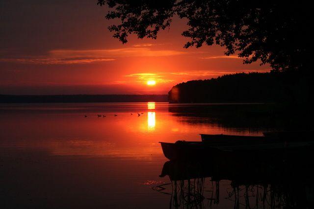 Zdjęcia: Zamordeje, Mazury, Wschód słońca na Mazurach dla Qmoszki :), POLSKA
