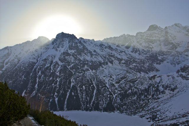 Zdjęcia: Szlak na Szpiglasową Przełęcz, Tatry, Wschód w drodze na Mnicha, POLSKA