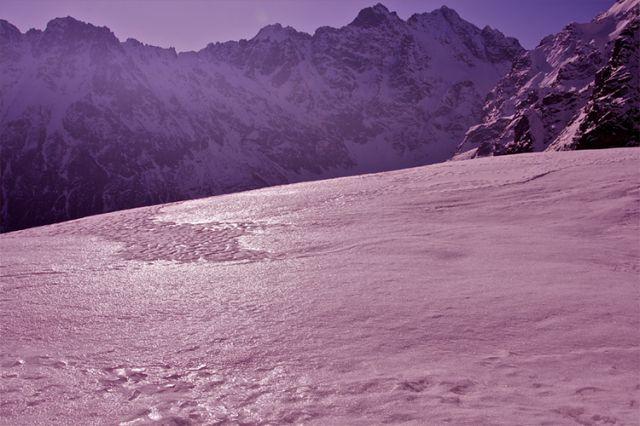 Zdjęcia: Szlak na Szpiglasową Przełęcz, Tatry, Zimowy Kwiecień w Tatrach, POLSKA