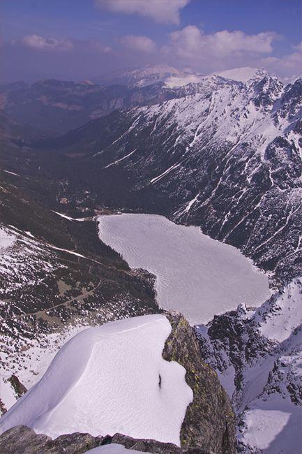 Zdjęcia: Mnich, Tatry, Morskie Oko ze szczytu Mnicha, POLSKA