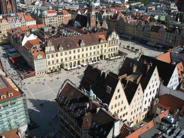 Zdjęcia: Wrocław, Dolny Slask, z wieży, POLSKA