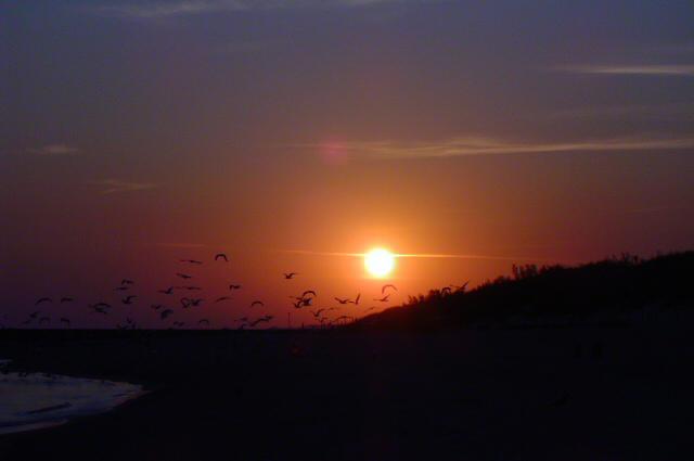 Zdjęcia: Ustka, wybrzeże, wschód słońca nad Bałtykiem, POLSKA