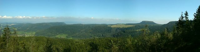 Zdjęcia: Góry Stołowe, woj. dolnośląskie, Widok z Błędnych Skał - Góry Stołowe, POLSKA