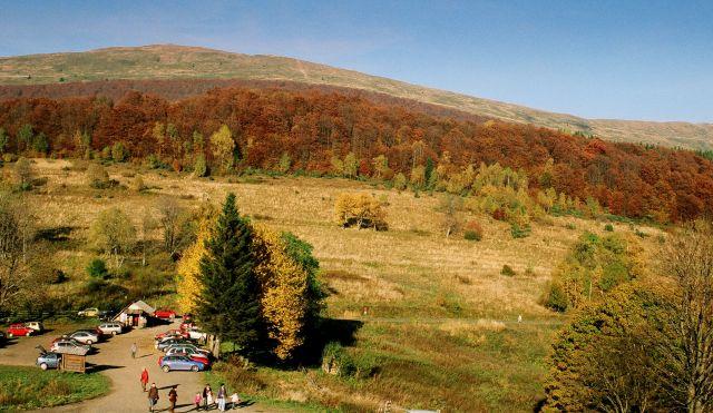 Zdjęcia: Przełęcz Wyżnizńska, Bieszczady, Widok na połoninę Caryńską, POLSKA