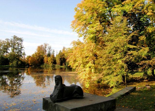 Zdjęcia: Park Romantyczny w Arkadii, łodzkie, Jesienne obrazki z Arkadii, POLSKA