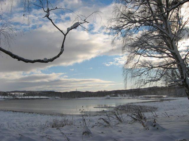 Zdjęcia: Połczyn - Zdrój, Zachodniopomorskie, staw połczyński zimą, POLSKA