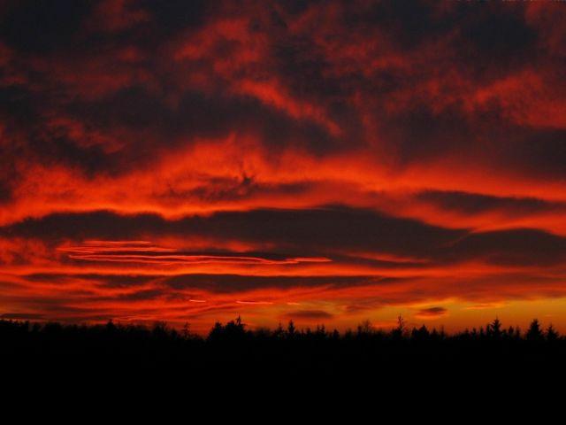 Zdjęcia: nizina śląska , w.opolski, zachód słońca, POLSKA