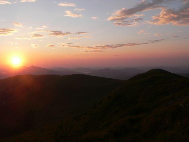 Zdjęcia: Tarnica, Bieszczady, Zachód słońca z Tarnicy, POLSKA