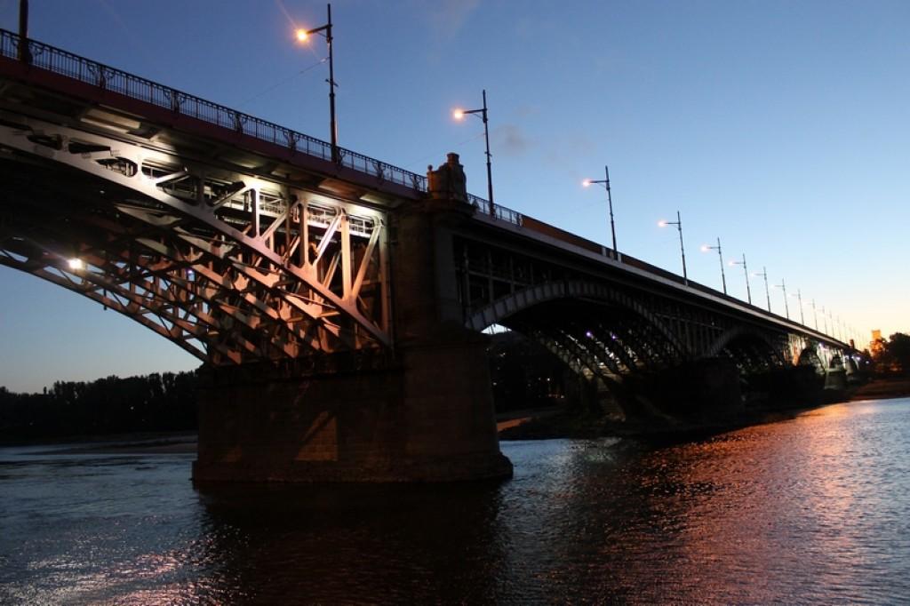 Zdjęcia: nad Wisłą, Warszawa, Most Poniatowskiego, POLSKA