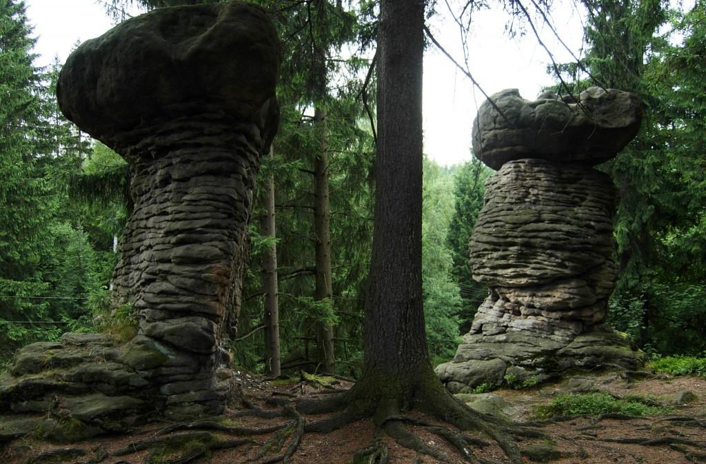 Zdjęcia: Gmina Szczytna, Góry Stołowe, Skalne formy , POLSKA