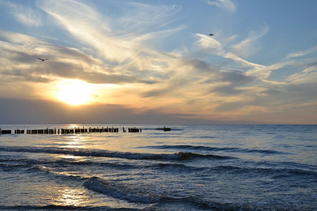 Zdjęcia: Dźwirzyno, Dżwirzyno, Zachód słońca, POLSKA