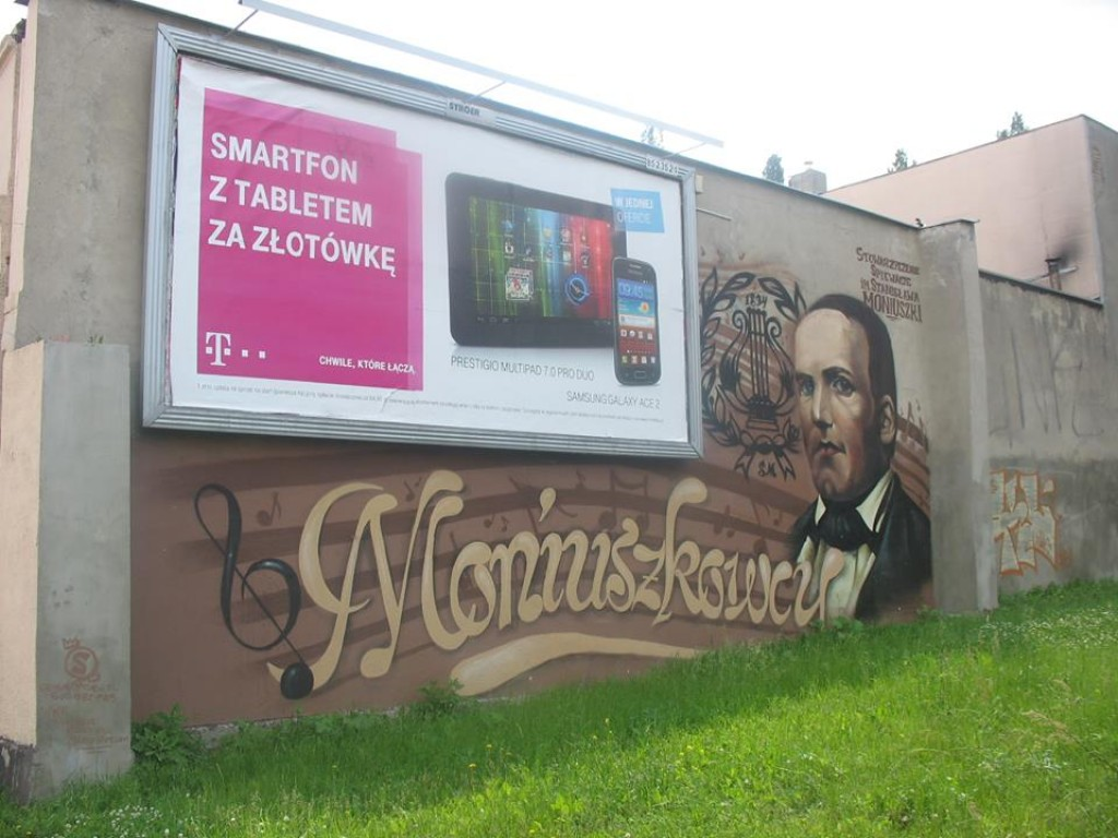 Zdjęcia: Łódź, woj. łódzkie, Mural, POLSKA