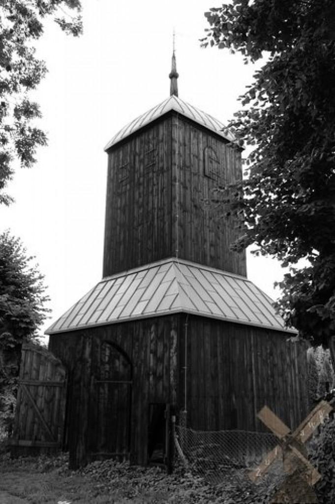 Zdjęcia: Wiślina, Żuławy, Drewniana dzwonnica z Wiśliny, POLSKA
