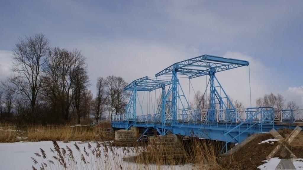 Zdjęcia: Jezioro, Żuławy, Most zwodzony w Jeziorze, POLSKA
