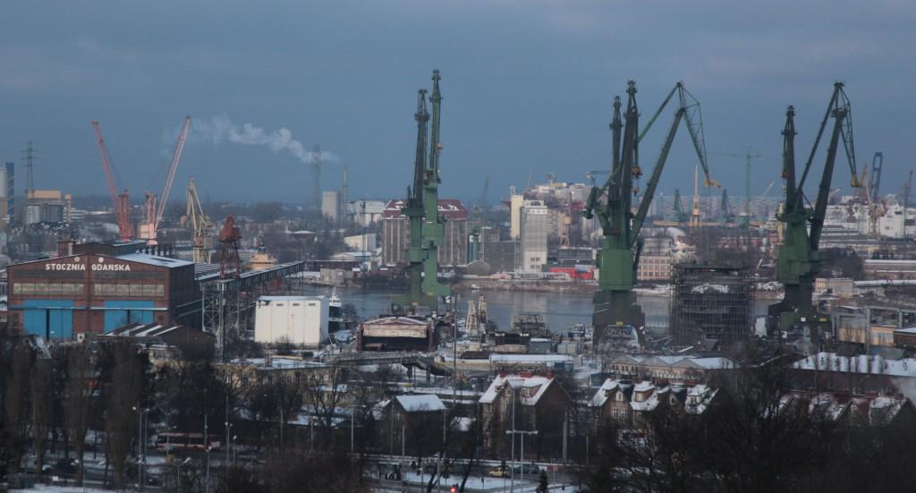 Zdjęcia: Gdańsk, Pomorze, Stocznia, widok z Góry Gradowej, POLSKA